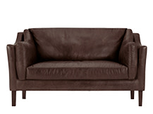 Hendrix 2 Seater Sofa, Saddle Brown Premium Leather