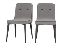 2 x Herby Dining Chairs, Graphite Grey