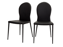 2 x Herzog Dining Chairs, Black