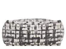 Holst Printed Pouffe, Tonal Grey