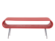 Hooper Storage Coffee Table, Red