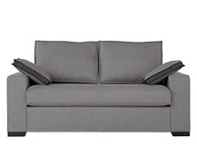 Hugo 2 Seater Sofa Bed, Osprey Grey