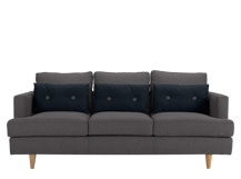 Irvine 3 Seater Sofa, Atlantic Grey