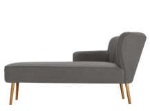 Jersey Left Hand Facing Chaise, Graphite Grey