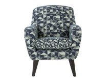 Johan Accent Chair, Graphic Print Mint and Navy