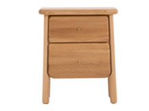 Jonah Bedside Table, Oak and Brass