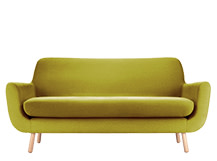 Jonah 2 Seater Sofa, Fennel Green