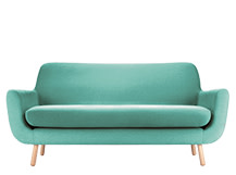 Jonah 2 Seater Sofa, Med Blue