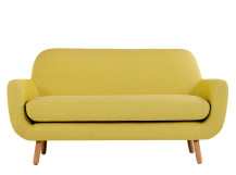 Jonah 2 Seater Sofa, Saffron Yellow