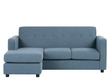 Joshua 3 Seater Chaise End Sofa, Denim