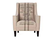 Juke Armchair, Wheat Sack Hessian Cotton Mix