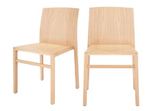 2 x Kito Straight Back Dining Chairs, Oak