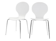 2 x Kitsch Dining Chairs, White