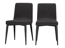 2 x Lex Dining Chairs, Midnight Black