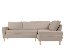 Lugano Right Hand Facing Corner Sofa Group, Camel Beige