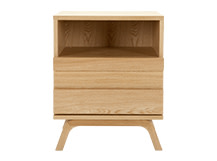 Luka Bedside Table, Oak