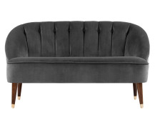Margot 2 Seater Sofa, Pewter Grey Velvet