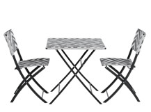 Maui Outdoor Bistro Set, Monochrome