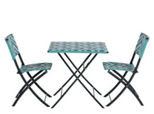 Maui Outdoor Bistro Set, Teal