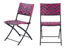 2 x Maui Outdoor Bistro Chairs, Pink