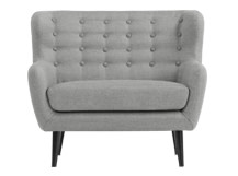 Mini Kubrick 2 Seater Sofa, Pearl Grey