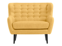 Mini Kubrick 2 Seater Sofa, Ochre Yellow