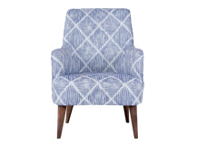Molly Armchair, Diamond Stripe Blue
