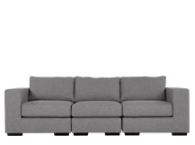 Mortimer 4 Seater Modular Sofa, Shadow Slate Grey