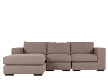Mortimer 4 Seater Modular Corner Sofa, Shadow Mocha