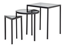 Nova Nesting Side Tables, Black