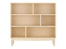 Penn Low Shelving Unit, Pale Ash
