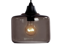 Petra Pendant Shade, Charcoal Grey