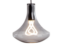 Plume Pendant Lamp and Plumen 001 Bulb, Smoke Grey