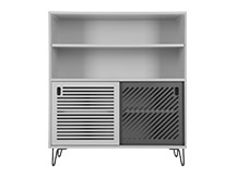 Pointillee Cabinet, Grey and White