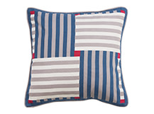 Reeds Printed Cushion 50 x 50cm, Malba Blue