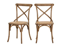 2 x Rochelle Dining Chairs, Oak