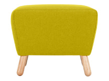 Rubens Footstool, Kelp Green Wool Mix