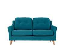 Rufus 2 Seater Sofa, Rich Azure