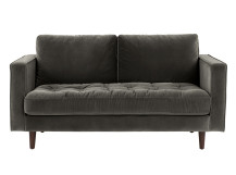 Scott 2 Seater Sofa, Concrete Cotton Velvet
