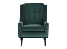 Scott Armchair, Petrol Cotton Velvet
