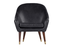 Seattle Armchair, Black Premium Leather