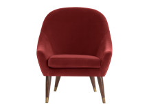 Seattle Armchair, Claret Cotton Velvet