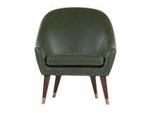 Seattle Armchair, Oxford Green Premium Leather