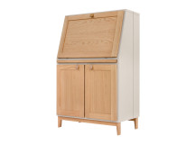 Shepperton Bureau, Oak and Stone Grey