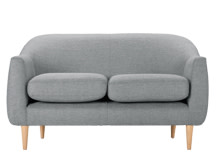 Tubby 2 Seater Sofa, Koala Grey
