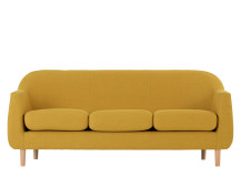 Tubby 3 Seater Sofa, Retro Yellow