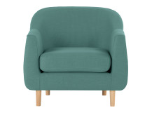Tubby Armchair, Soft Teal