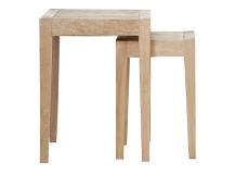 2 x Twain Nesting Tables, Oak