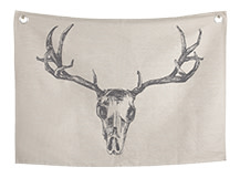 Relic Large Wall Hanging, 140cm x 100cm, Deer Skull, by Jimmie Martin