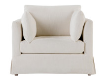 Antibes Loose Cover Love Seat,  Chalk
